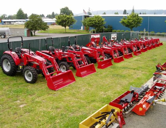 A WIDE VARIETY OF MAHINDRA TRACTORS.